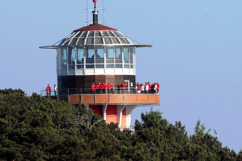 Prezydent Andrzej Duda przyjął w środę piłkarzy reprezentacji Polski w swojej letniej rezydencji w Jastarni – tu spotkanie na wieży widokowej prezydenckiego ośrodka.