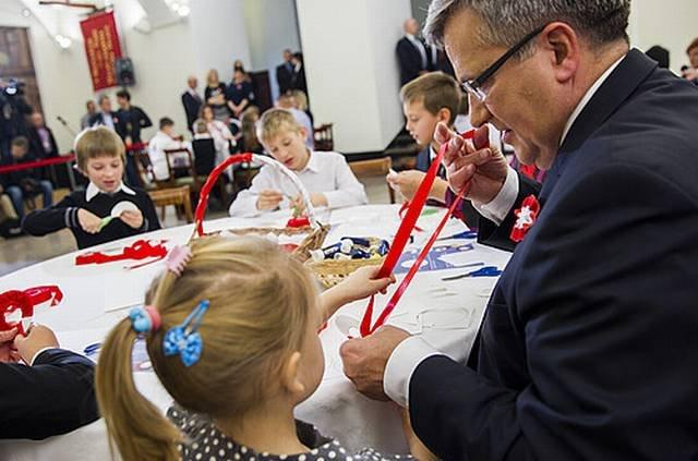 Prezydent Bronisław Komorowski podczas obchodów Dnia Niepodległości, Warszawa