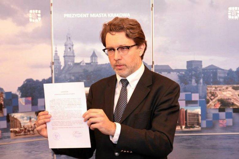 Michał Rusinek odczytuje testament Wisławy Szymborskiej