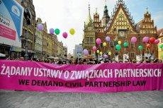 25.09.2010 Wrocław. Demonstracja w sprawie związków partnerskich.