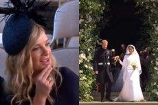 Choć była dziewczyna Harry'ego nei wyglądała na zadowoloną, jednak pojawiła się na królewskim ślubie