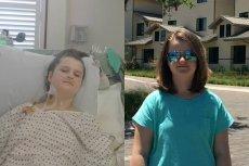 Julka w szpitalu –tę operację w USA udało się przeprowadzić dzięki wsparciu 111 tys. darczyńców. Obok –już po operacji.
