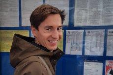 Kamil Stoch czerpał ze swojej przejażdżki tramwajem niemałą przyjemność
