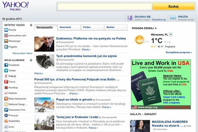 Polska wersja Yahoo zostanie zamknięta