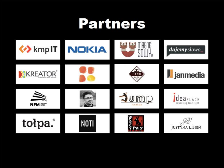 Wszyscy partnerzy konferencji TEDxWrocław