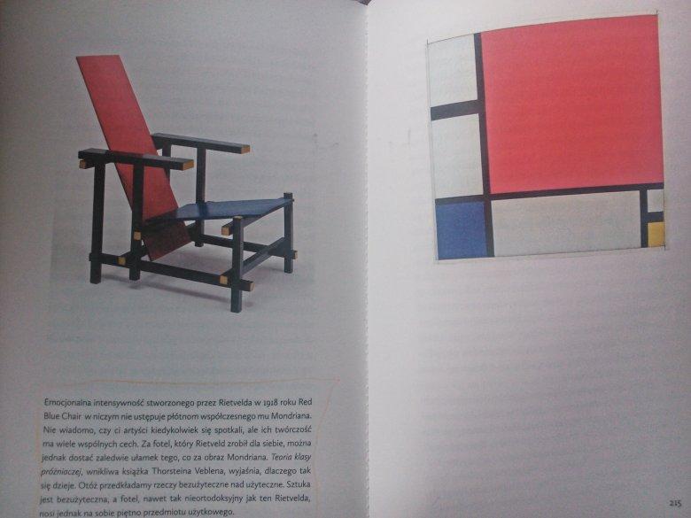 Red Blue Chair Rietvelda (po lewej) i płótno Mondriana (po prawej) wyceniane dziś na sumę wielokrotnie większą niż krzesło