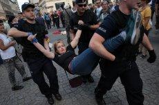 Tak policja potraktowała uczestników Świątecznego Pikniku Antyfaszystowskiego.
