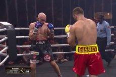 """Krzysztof """"Diablo"""" Włodarczyk podczas walki z Muratem Gasijewem."""