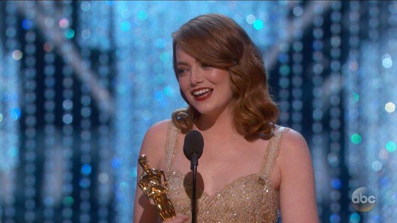 "Emma Strone odbiera nagrodęza ""La La Land"""