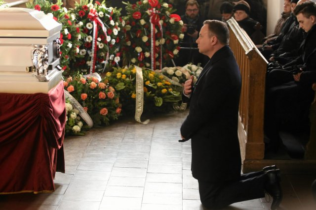 Prezydent Andrzej Duda wziął udział w uroczystościach pogrzebowych Łukasza Urbana, kierowcy ciężarówki i ofiary zamachu w Berlinie.