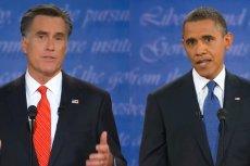 Kandydaci na prezydenta USA podczas pierwszej debaty. Od lewej: Mitt Romney, Barack Obama