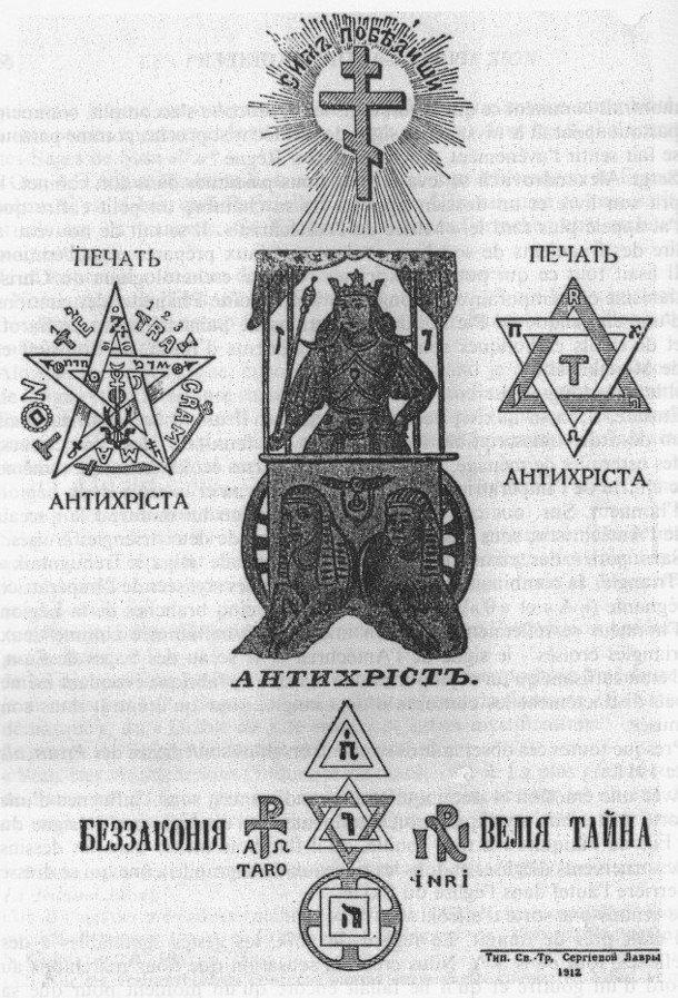 Książka Siergieja Nilusa z 1912 roku, zawierająca tekst Protokołów.