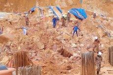 Katastrofa budowlana w Malezji. Podczas budowy 49-metrowych luksusowych wieżowców osunęła się ziemia. Zginęło co najmniej 11 robotników.