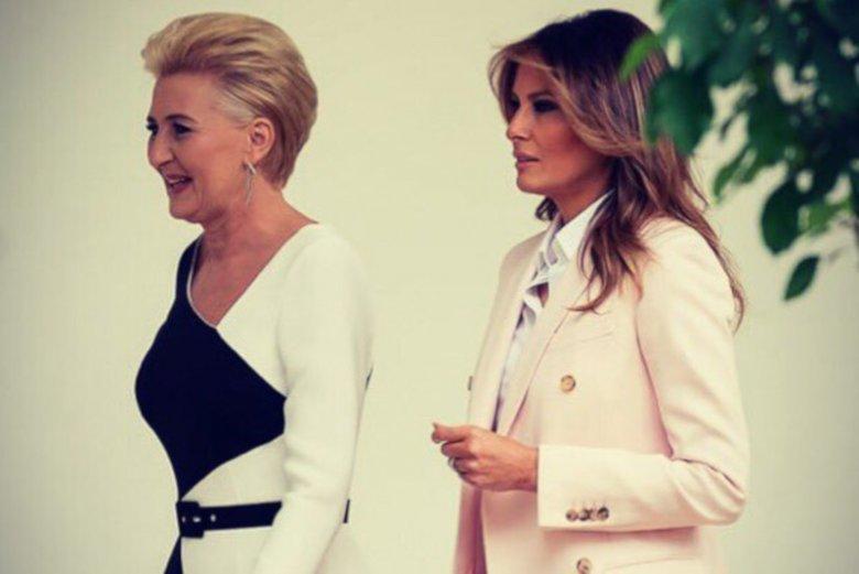 Niektóre media są w szoku, że Melania Trump zabrała głos podczas powitania pary prezydenckiej w USA.