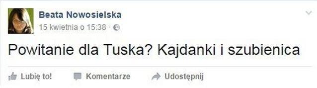 Dyrektor departamentu edukacji i komunikacji Ministerstwa Środowiska tak wyraziła się na temat Donalda Tuska