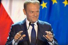Donald Tusk wygłasza wykład na UW.
