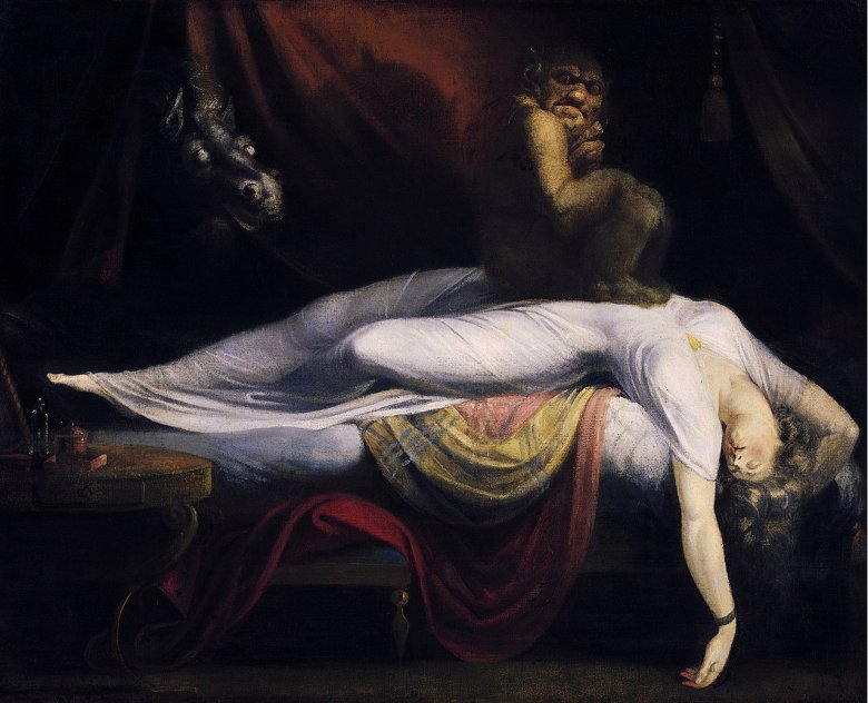 Obraz Johanna Heinricha Füssliego z 1781 roku przedstawia nocne koszmary