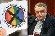 Homofobiczna naklejka, która była dołączona do gazety Tomasza Sakiewicza, spotkała się z międzynarodowym potępieniem.