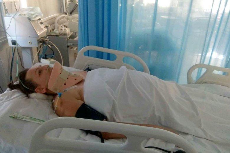 Anna Lulkiewicz utknęła w kirgiskim szpitalu. Sparaliżowana czeka na transport do Polski.