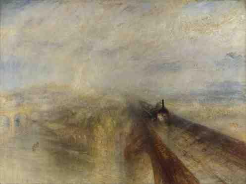 """J.M.W. Turner """"Deszcz, para, pęd"""""""