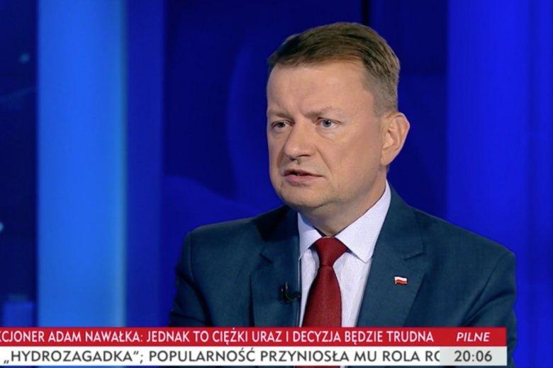 Zdaniem Mariusza Błaszczaka Polska rośnie w siłę i nasza pozycja na arenie międzynarodowej jest coraz mocniejsza.
