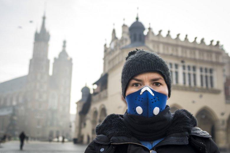Maseczka antysmogowa stała się symbolem zjawiska smogu występującego w Krakowie