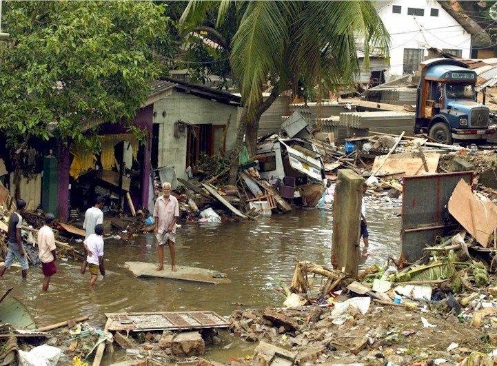 W tsunami na Sri Lance,w grudniu 2004 roku, 35 tysięcy osób zginęło, a około miliona zostało dotkniętych skutkami kataklizmu na przykład poprzez utratę domu, dobytku.
