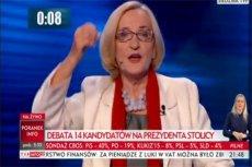 Krystyna Krzekotowska stwierdziła, że w Warszawie za dużo jest... kandydatów na prezydent stolicy.