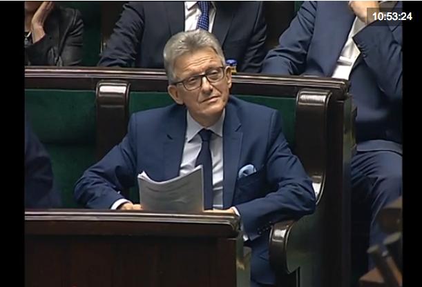 Reakcja Stanisława Piotrowicza na słowa Krzysztofa Brejzy.