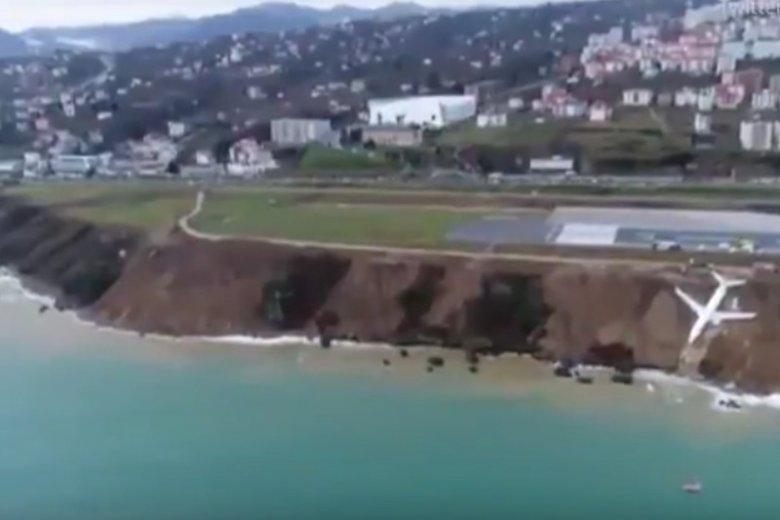 Samolot leciał z Ankary do Trabzonu nad Morzem Czarnym.