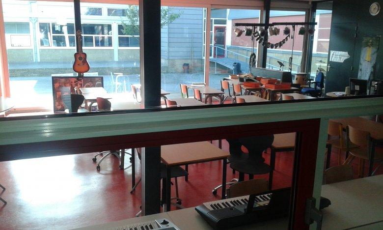 pracownia muzyczna w holenderskiej zawodówce