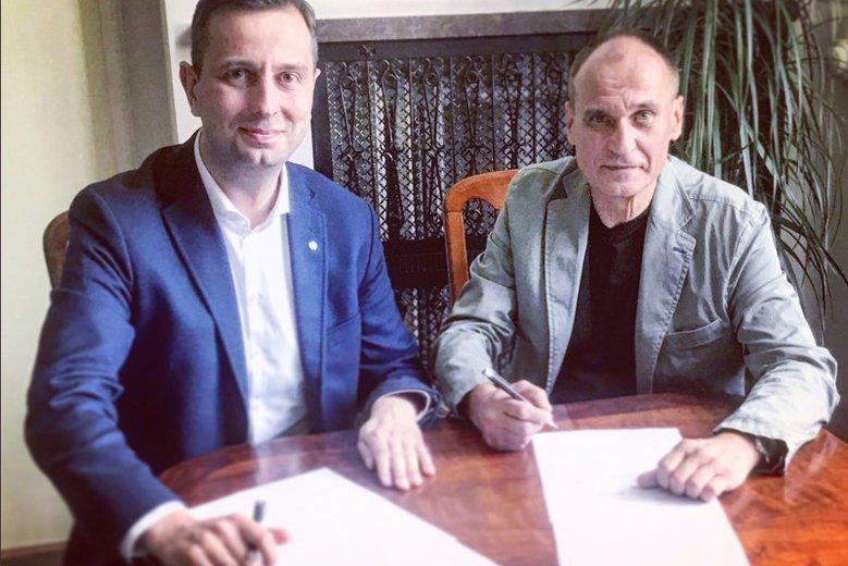 Paweł Kukiz i Władysław Kosiniak-Kamysz mieli się dogadać w sprawie podziału środków z budżetu przeznaczonych na działalność partyjną.