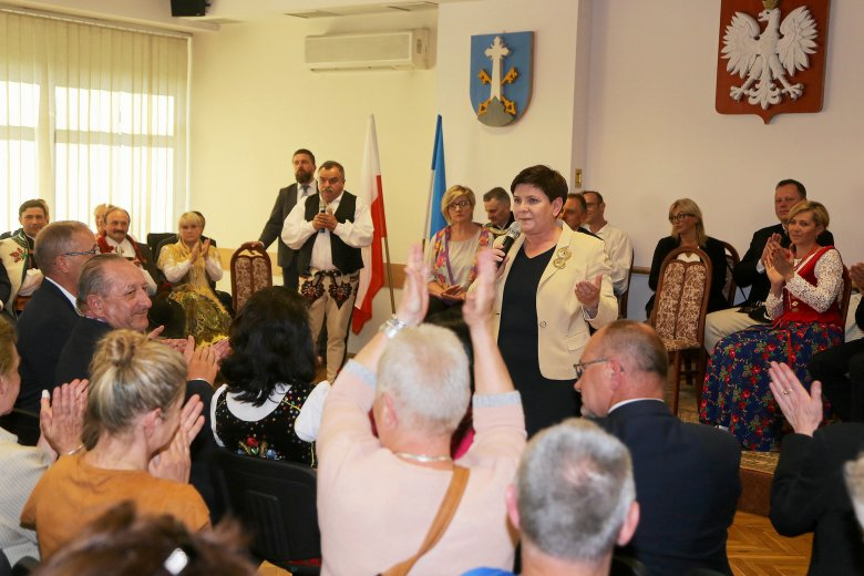 Beata Szydło podczas spotkania z mieszkańcami Podhala. Maj 2018 r.