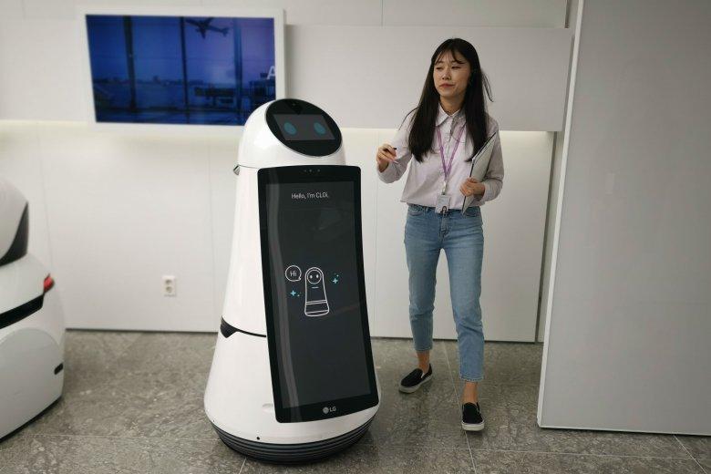 LG CLOi GuideBot – maszyna, która (w naprawdę miły sposób) pomoże ci zdążyć na samolot.