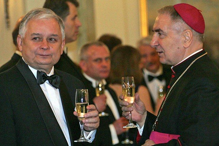 Abp. Józef Kowalczyk utrzymywał świetne kontakty z śp. prezydentem Lechem Kaczyńskim.