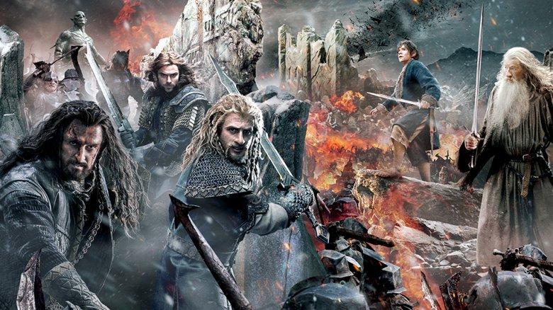 "Grafika promująca film ""Hobbit: Bitwa pięciu armii""."