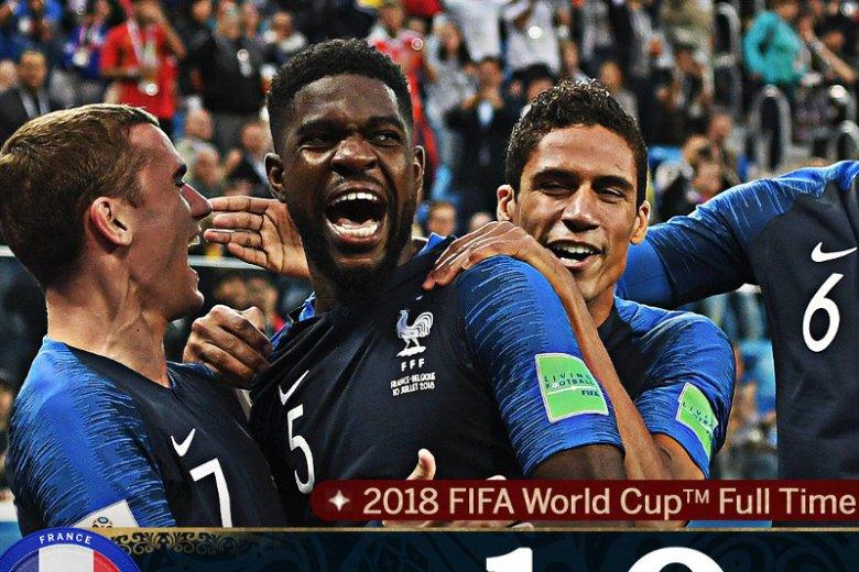 Pierwszym finalistą Mundialu w Rosji została Francja.