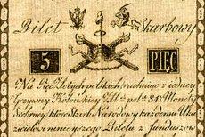 Bilet skarbowy o wartości 5 złotych, 1794
