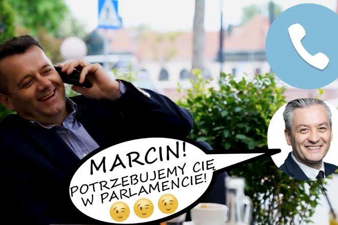 Marcin Walasek wypuścił spot wyborczy w rytmie disco polo.