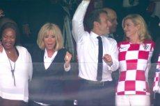 Prezydent Francji Emmanuel Macron zrobił furorę na loży honorowej podczas meczu Francja-Chorwacja o złoto MŚ w Rosji.