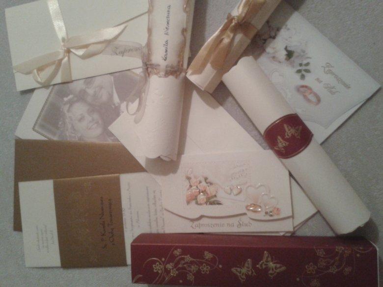 Moja kolekcja zaproszeń; przechowuję je jako pamiątki i dokumenty życia rodzinnego.