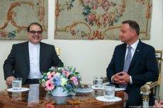 Ambasador Masoud Edrisi Kermanshahi na spotkaniu z prezydentem Andrzejem Dudą we wrześniu 2018 r.