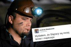 Poseł Platformy Obywatelskiej Andrzej Gałażewski krytykuje na Twitterze lenistwo Ślązaków i kwestionuje inteligencję tej społeczności.