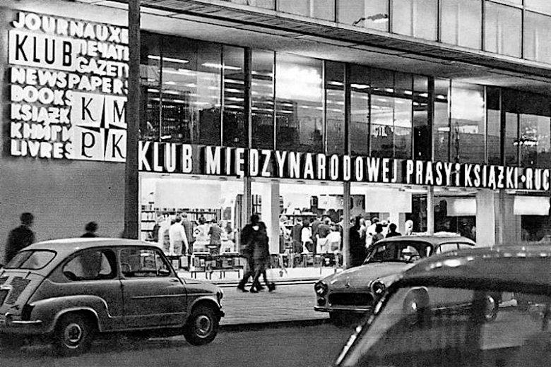 Neony salonu przy ul. Marszałkowskiej w Warszawie, lata 50. ub. w.