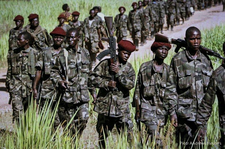 Rebelianci sojuszu w drodze na Kinszasę.