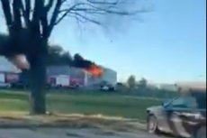 Pożar wybuchł w Parku Miniatur Minieuroland.