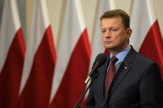 Mariusz Błaszczak pokazał projekt, który niedawno odrzucił.