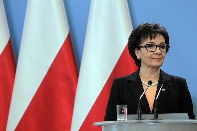 """Elżbieta Witek zachęca Rzeplińskiego do oglądania """"Kiepskich""""."""