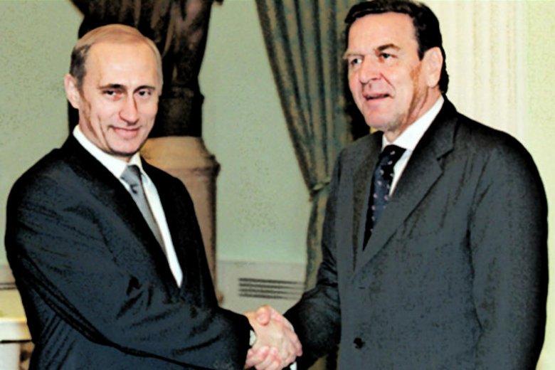 Gerhard Schoeder i Władimir Putin. Wielka przyjaźń ponad podziałami.