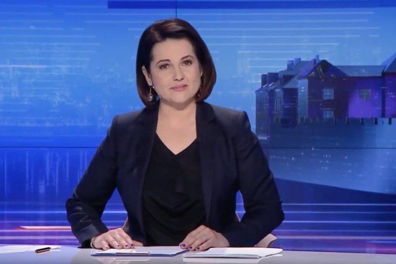 """Edyta Lewandowska jako prezenterka """"Wiadomości"""" robiła, co mogła, by pomóc Marianowi Banasiowi."""